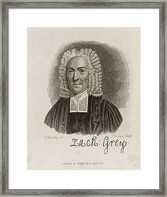 Zacharey Grey Framed Print by Middle Temple Library