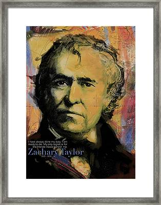 Zachary Taylor Framed Print by Corporate Art Task Force