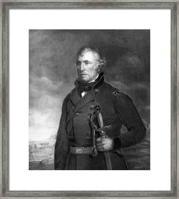 Zachary Taylor Framed Print by Eliphalet Frazer Andrews