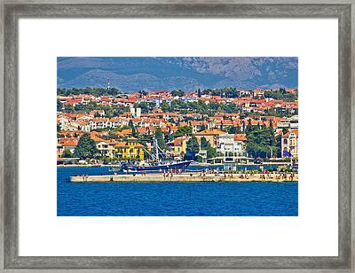 Zadar Waterfront Sea Organs View Framed Print