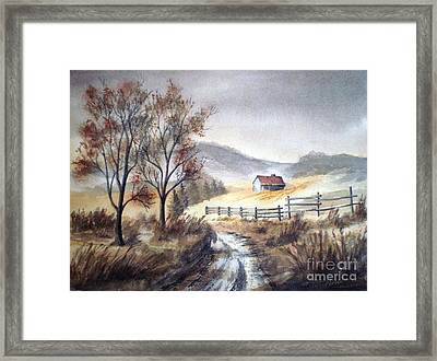 Framed Print featuring the painting Zagorski Puteljak by Eleonora Perlic