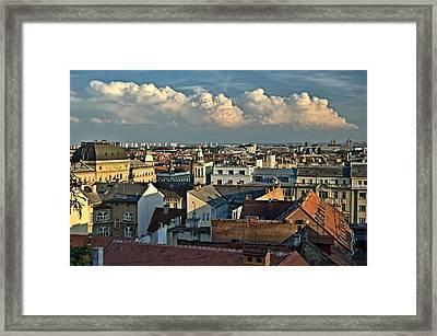 Zagreb Rooftops Framed Print