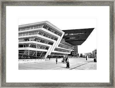 Zaha Hadid Library Center Wu Campus Vienna Framed Print by Menega Sabidussi