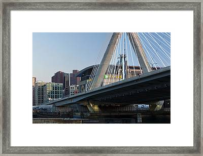 Zakim And The Garden Framed Print by Eric Gendron