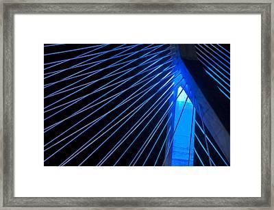 Zakim In Blue - Boston Framed Print by Joann Vitali