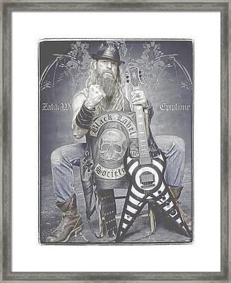 Zakk Wylde 2 Framed Print