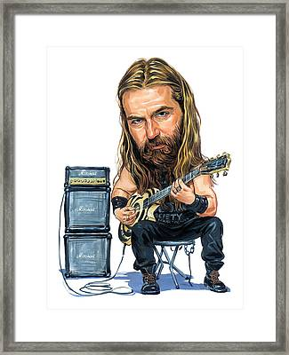 Zakk Wylde Framed Print by Art