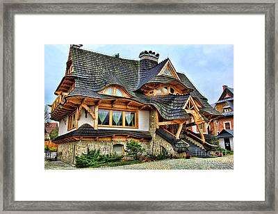 Zakopane Cottage  Framed Print by Mariola Bitner