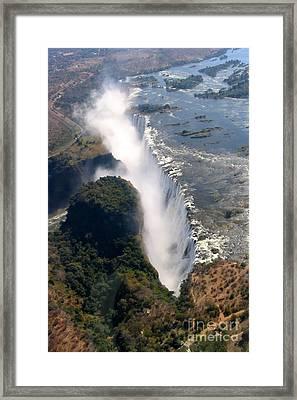 Zambezi Thunder Framed Print by Amanda Schuster