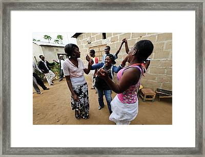 Zambian Theatre Group Framed Print
