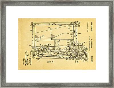 Zamboni Ice Rink Resurfacing Patent Art 1953 Framed Print by Ian Monk