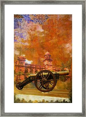 Zamzama Tope Or Kim's Gun Framed Print by Catf