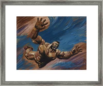 Zangief Framed Print by Luis  Navarro