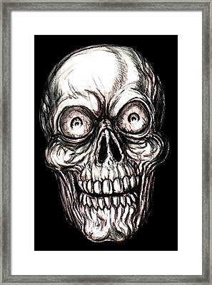 Zany Skeleton Framed Print by Jack Joya
