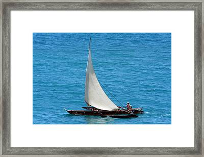 Zanzibar Fisherman Framed Print