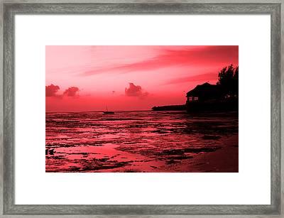 Zanzibar Sunrise Framed Print by Aidan Moran