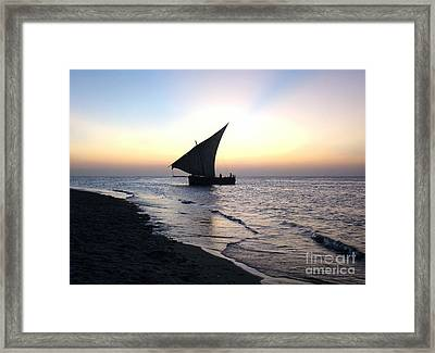 Zanzibar Sunset 20 Framed Print by Giorgio Darrigo