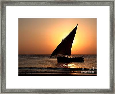 Zanzibar Sunset 22 Framed Print by Giorgio Darrigo