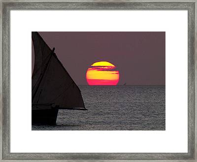 Zanzibar Sunset Framed Print by Giorgio Darrigo