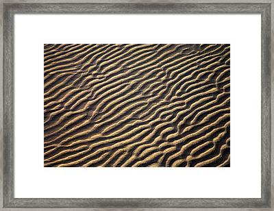 Zanzibar, Tanzania Sand Patterns Framed Print by Chris Upton