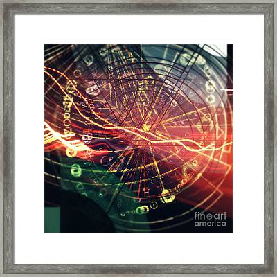 Zap Square Framed Print by Jose Benavides