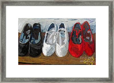 Zapatos De Flamenco Framed Print by Greg Mason Burns