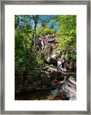 Zealand Falls Framed Print