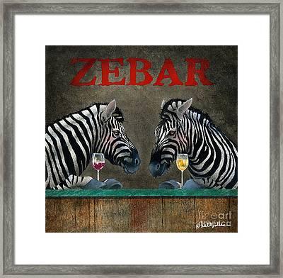 Zebar... Framed Print