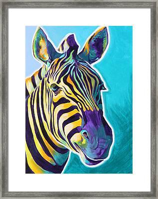 Zebra - Sunrise Framed Print