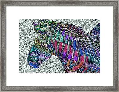 Zebra 2- Happened At The Zoo  Framed Print by Jack Zulli