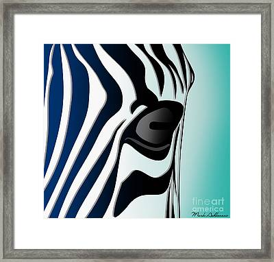 Zebra 2 Framed Print by Mark Ashkenazi
