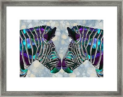 Zebra 5 Framed Print by Jack Zulli