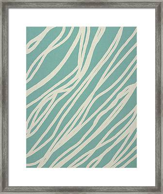 Zebra Framed Print by Aged Pixel