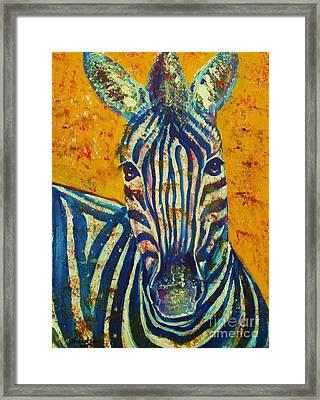 Zebra Framed Print by Anastasis  Anastasi