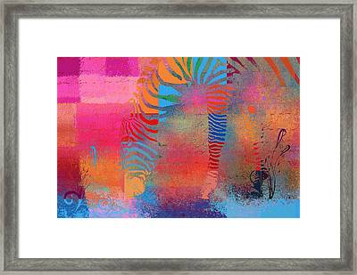 Zebra Art - Mtc077b Framed Print by Variance Collections