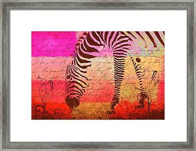 Zebra Art - T1cv2blinb Framed Print