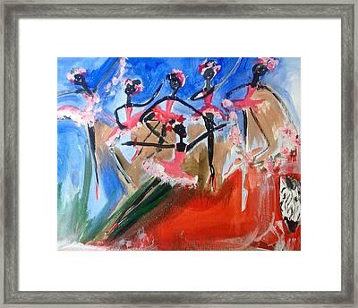Zebra Ballet Framed Print by Judith Desrosiers