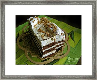 Zebra Cake Framed Print by Ausra Huntington nee Paulauskaite