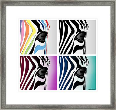 Zebra Collage   Framed Print by Mark Ashkenazi