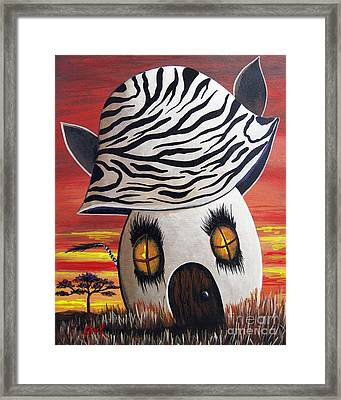 Zebra Cottage By Shawna Erback Framed Print by Shawna Erback