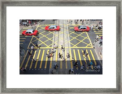 Zebra Crossing - Hong Kong Framed Print