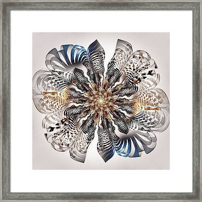 Zebra Flower Framed Print