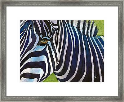 Zebra Zones Out Framed Print