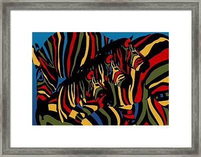 Zebra In The Jungle 2 Framed Print by Mark Ashkenazi