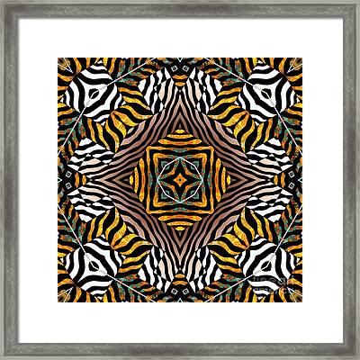 Zebra Mandala Framed Print by Joseph J Stevens