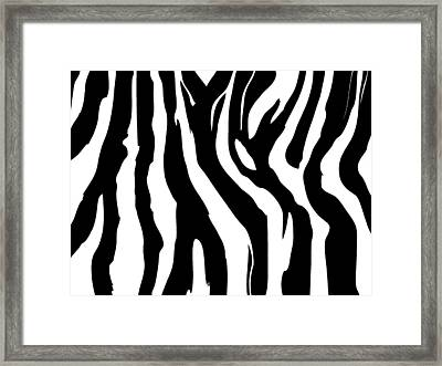 Zebra Print 001 Framed Print by Kenneth Feliciano