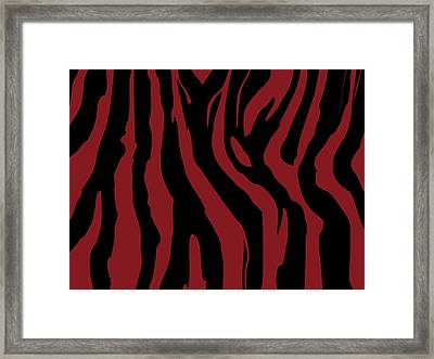 Zebra Print 002 Framed Print by Kenneth Feliciano