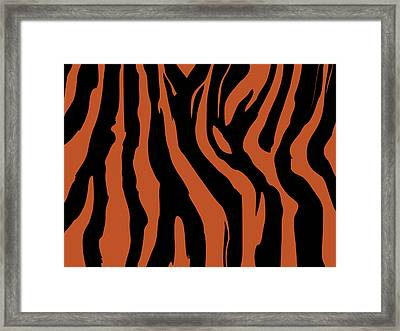 Zebra Print 003 Framed Print by Kenneth Feliciano