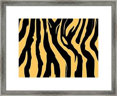 Zebra Print 005 Framed Print by Kenneth Feliciano