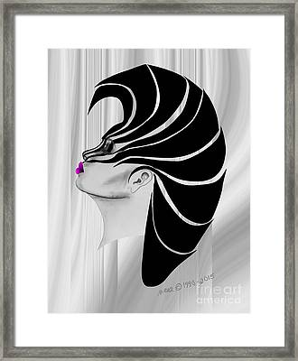 Framed Print featuring the drawing Zebra Punk by Marianne NANA Betts